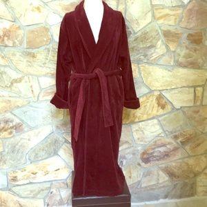 Victoria's Secret Burgundy Turkey Terry Cloth Robe